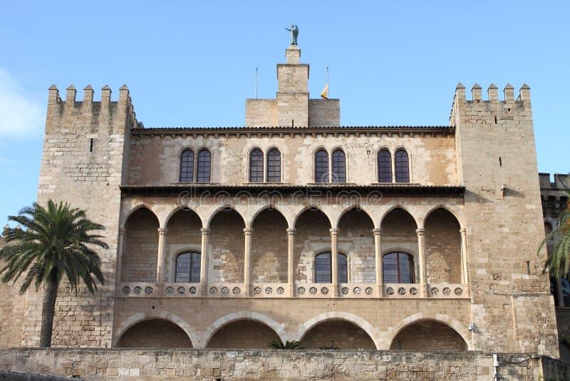 Almudaina Palace in Palma de Mallorca royalty free stock photography