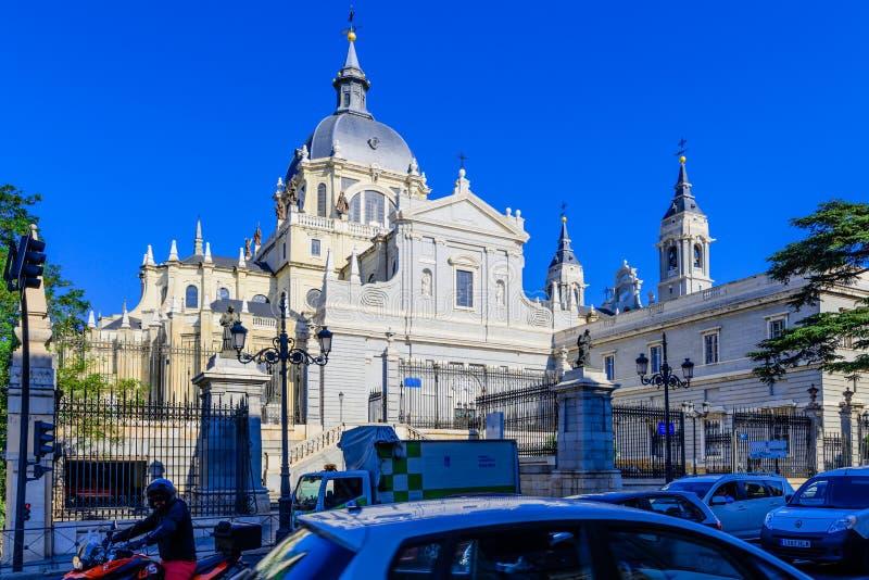 Almudena大教堂 库存照片