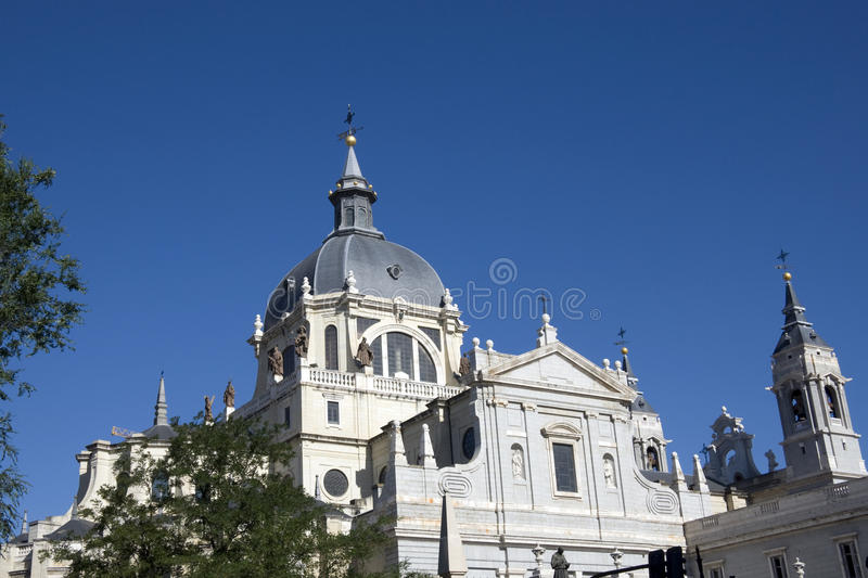 Almudena Cathedral - Madrid royalty free stock images