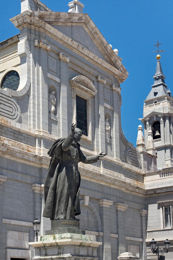 Almudena Cathedral In Madrid Stock Image