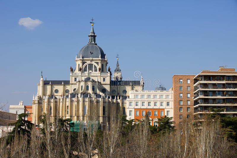 Almudena Kathedrale In Madrid Lizenzfreies Stockbild