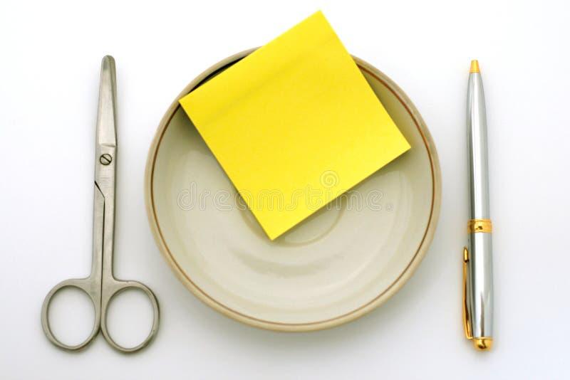 Almuerzo de asunto imagen de archivo
