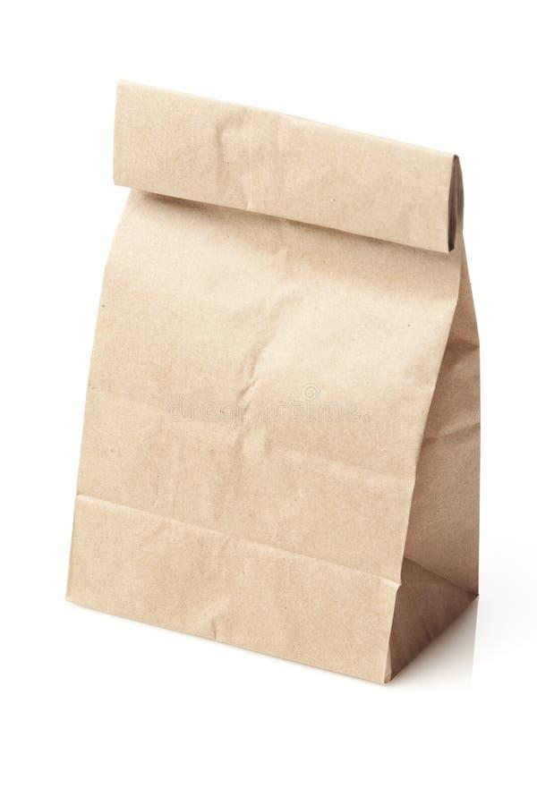 Almuerzo de saco de la bolsa de papel de Brown foto de archivo