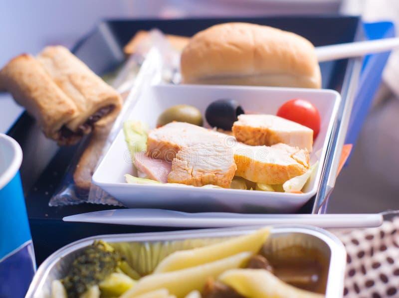 Almuerzo del aeroplano fotografía de archivo libre de regalías