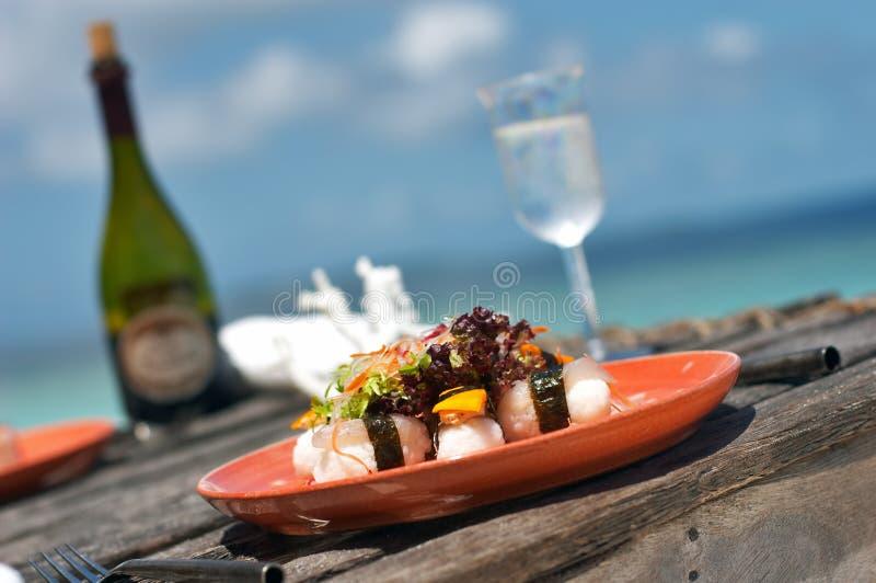 Almuerzo delicioso del sushi fotografía de archivo