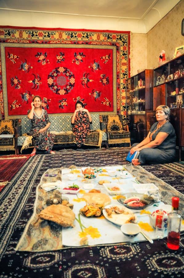 Almuerzo en Turkmenistán foto de archivo libre de regalías