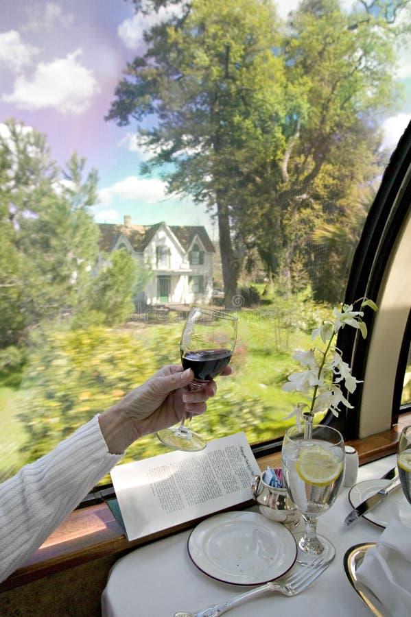 Almuerzo en un tren foto de archivo libre de regalías