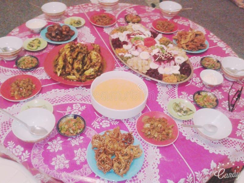 Almuerzo marroquí fotos de archivo