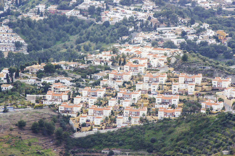 Almunecar in Andalusia, Spain. View of Almunecar in Andalusia, Spain stock photos
