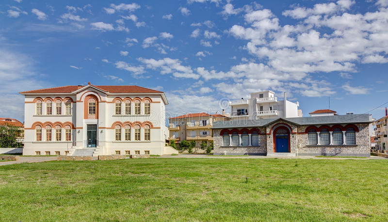 Almyros town hall, Thessaly, Greece royalty free stock images