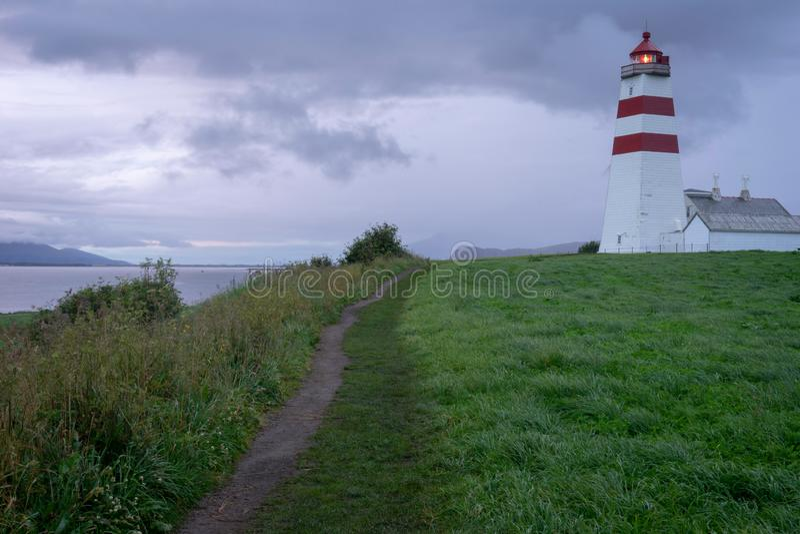 Alnes lighthouse in aalesund stock photos
