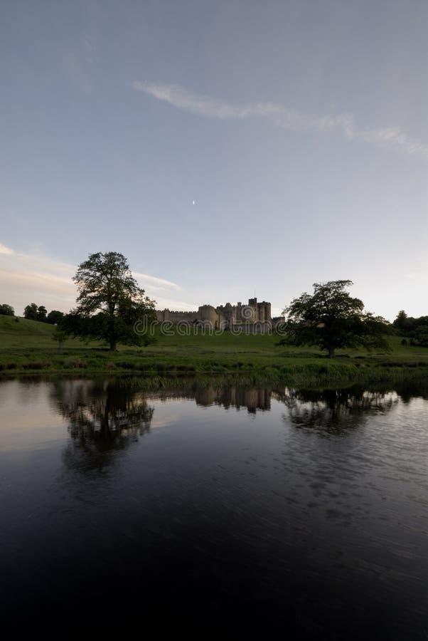 Alnwick aln zamku rzeki zdjęcia stock