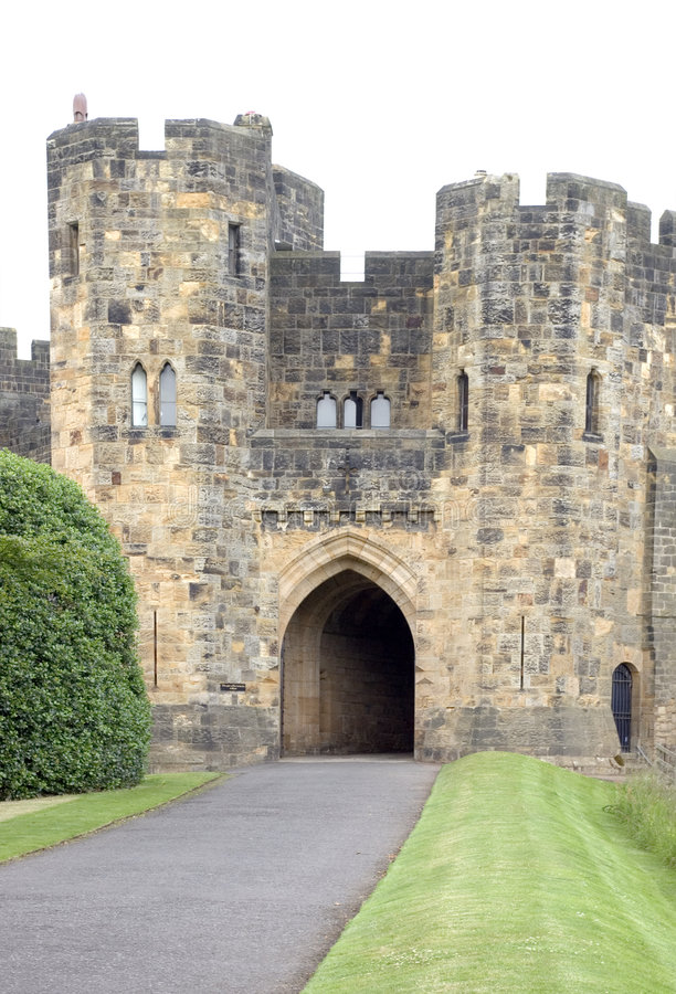 Alnwick Castle Gatehouse royalty free stock photos