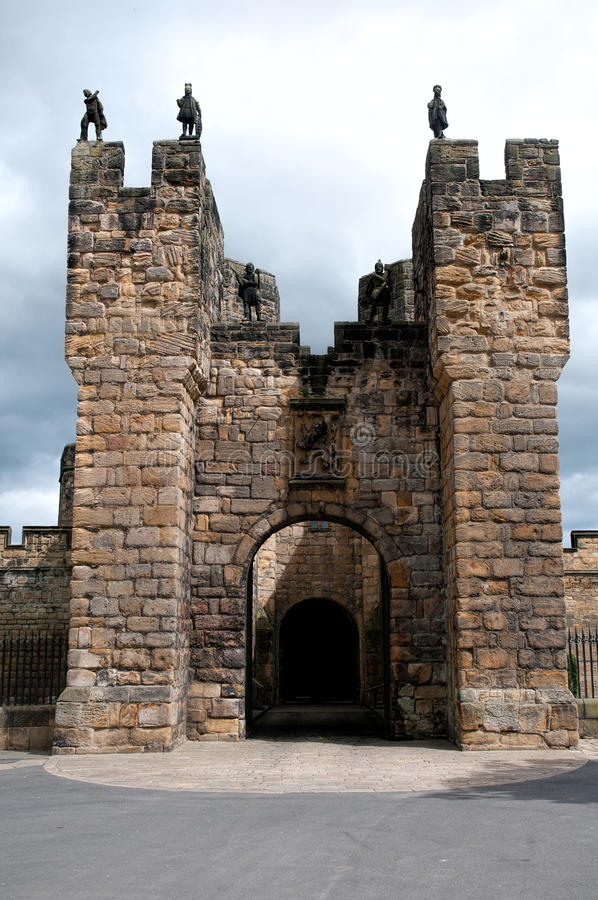 Alnwick Castle Gatehouse stock photos