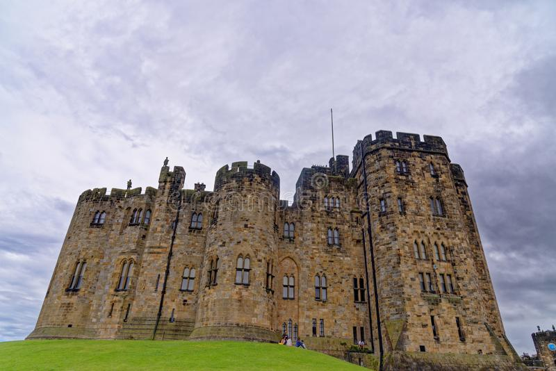 Alnwick Castle - Northumberland - United Kingdom. Alnwick Castle is a castle and country house in Alnwick in the English county of Northumberland. Photo taken on royalty free stock image