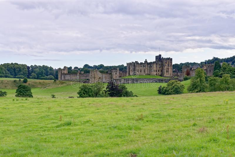 Alnwick Castle - Northumberland - United Kingdom. Alnwick Castle is a castle and country house in Alnwick in the English county of Northumberland. Photo taken on royalty free stock images