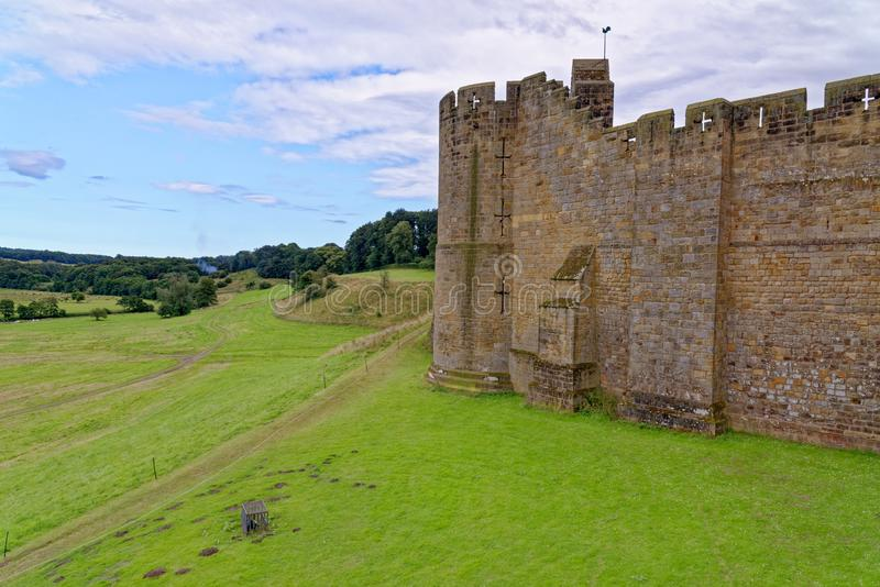 Alnwick Castle - Northumberland - United Kingdom. Alnwick Castle is a castle and country house in Alnwick in the English county of Northumberland. Photo taken on stock image
