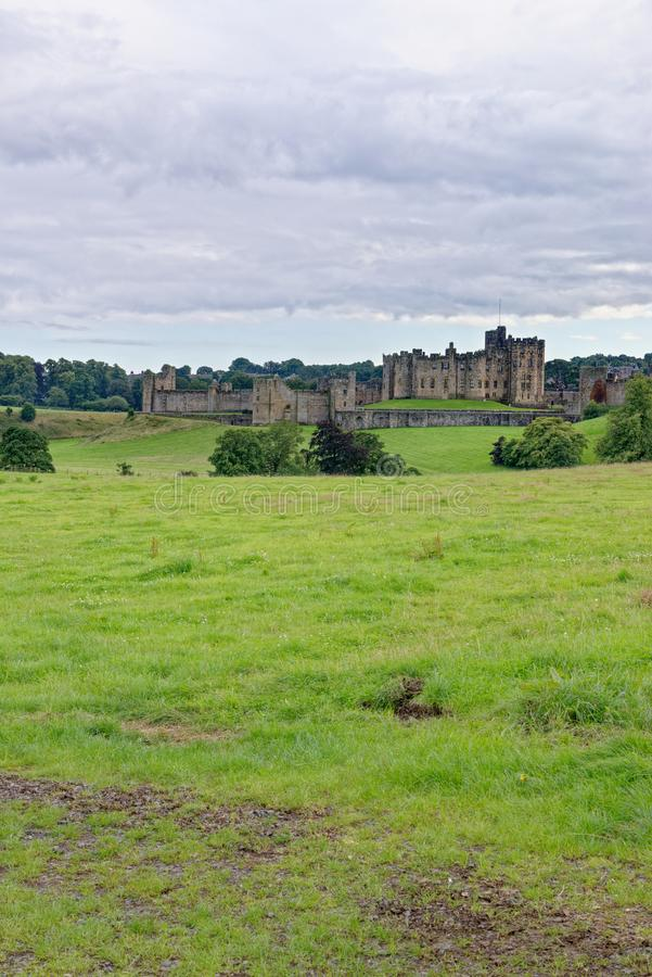 Alnwick Castle - Northumberland - United Kingdom. Alnwick Castle is a castle and country house in Alnwick in the English county of Northumberland. Photo taken on royalty free stock photo