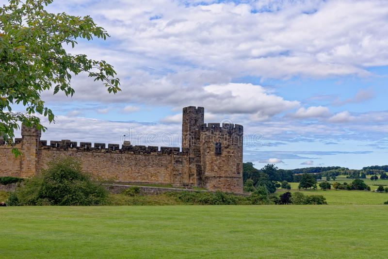 Alnwick Castle - Northumberland - United Kingdom. Alnwick Castle is a castle and country house in Alnwick in the English county of Northumberland. Photo taken on stock photo