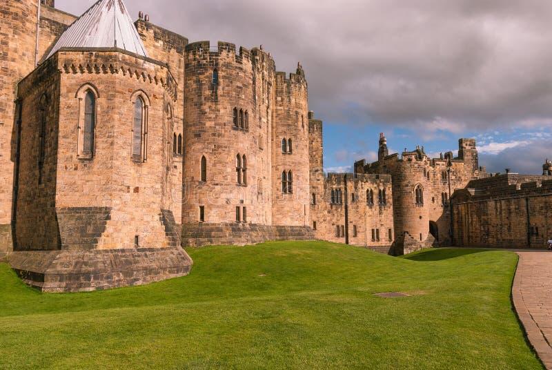 1309 Alnwick diuków England księcia zamek do większego zamieszkiwał Northumberland percy jest drugi fotografia royalty free