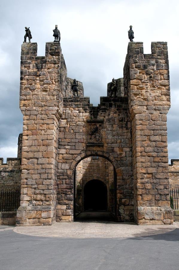 Alnwick kasztelu Gatehouse zdjęcia stock