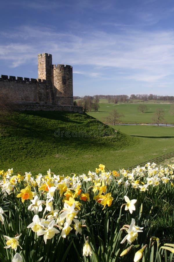 Alnwick-Schloss stockfotos