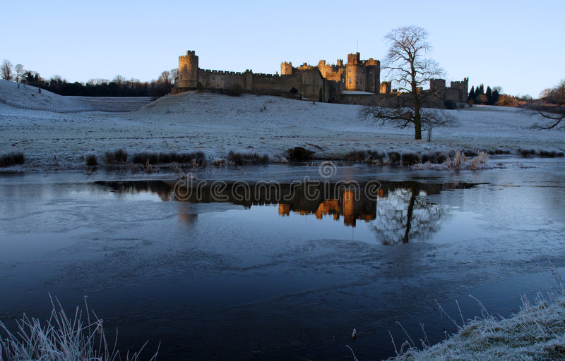 Alnwick-Schloss stockbilder
