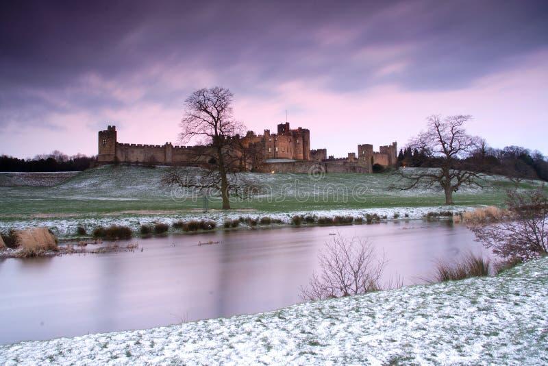 alnwick slott royaltyfria foton