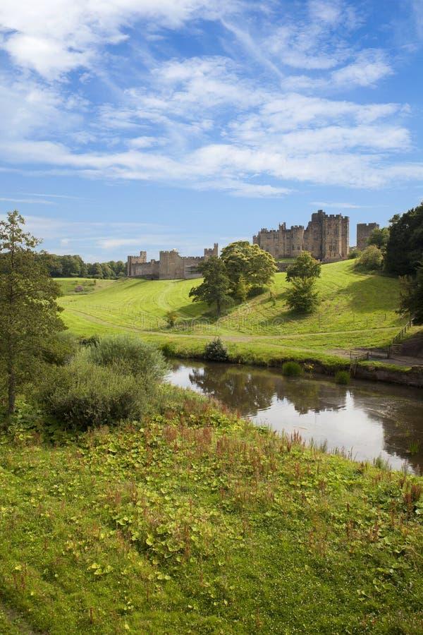 Alnwick slott, Northumberland. royaltyfria foton