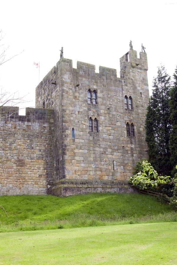 alnwick sokolników wieży zamku zdjęcia royalty free