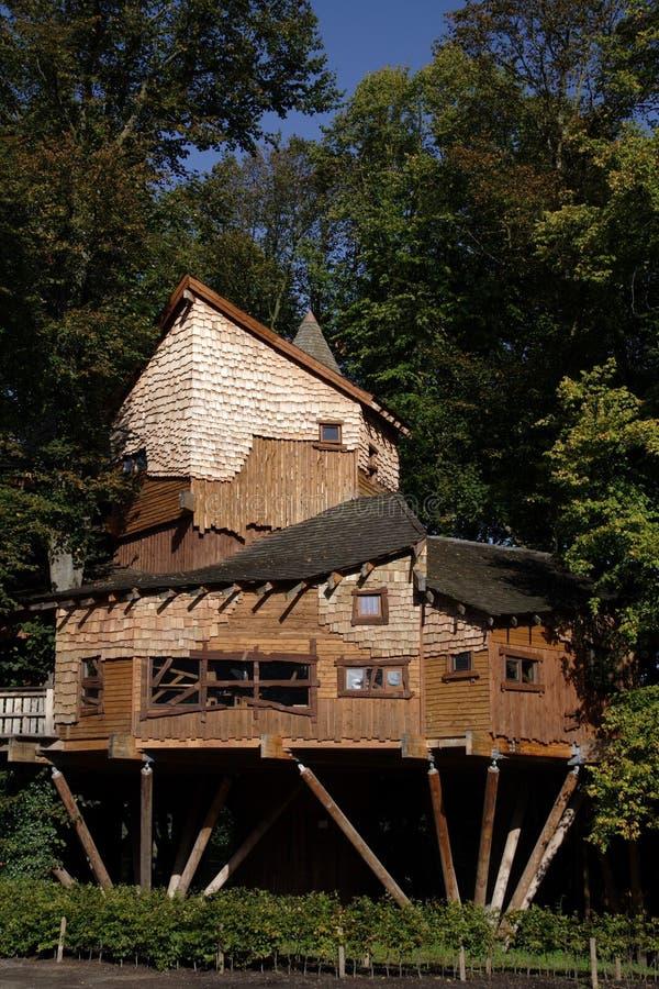Alnwick Tuin Treehouse royalty-vrije stock foto's