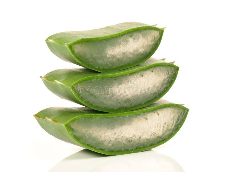 Aloés Vera - nutrição saudável imagem de stock