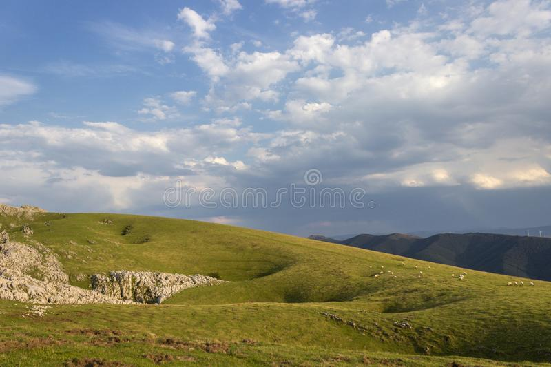 Aloña mountain in Oñati. In the Basque Country in Spain stock photography