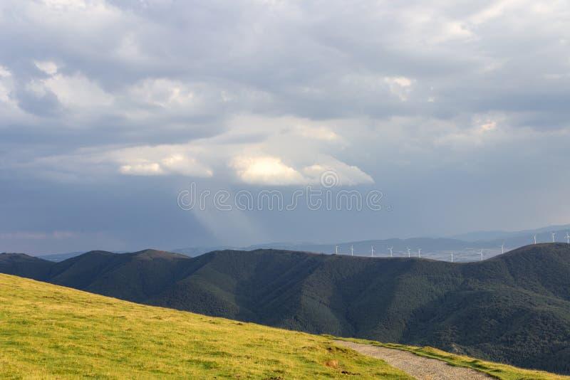 Aloña mountain in Oñati. In the Basque Country in Spain stock image