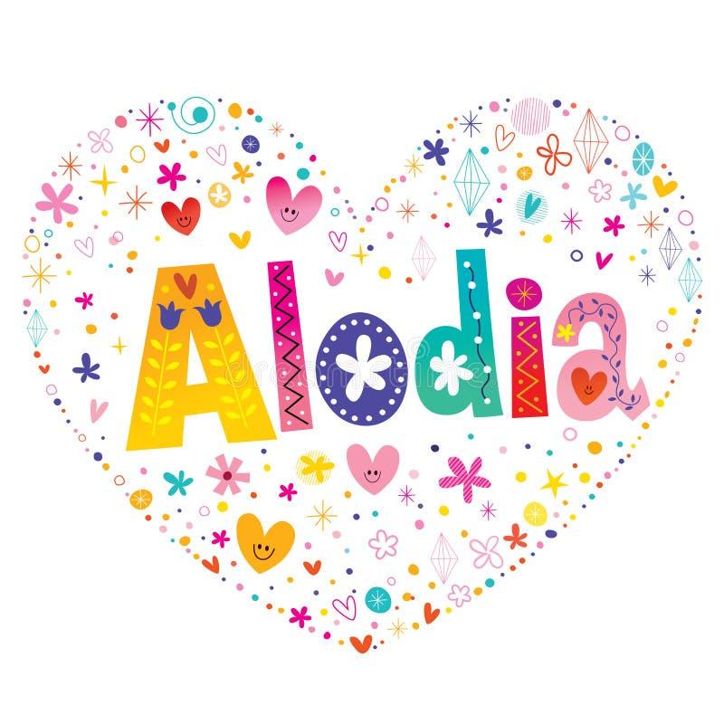 Alodia - meisjesvoornaam stock illustratie
