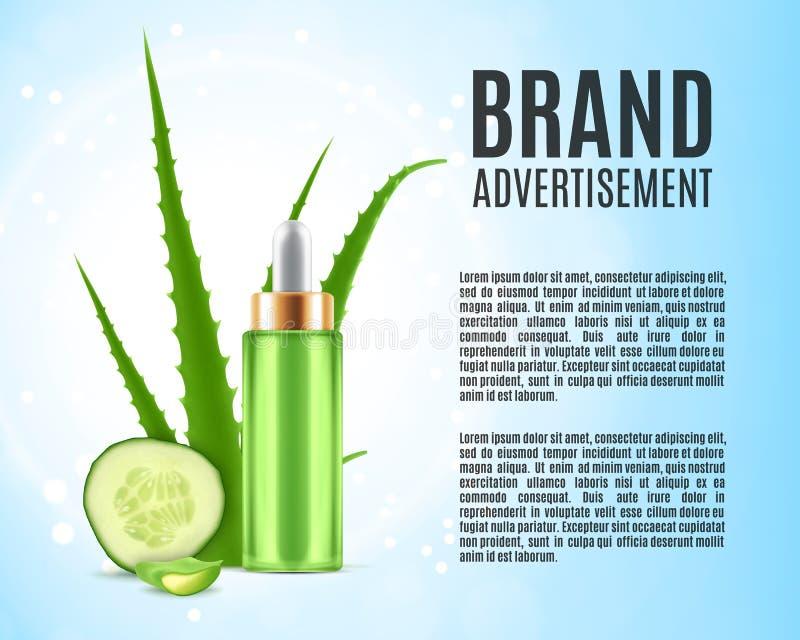 Aloe και αγγούρι διανυσματική απεικόνιση
