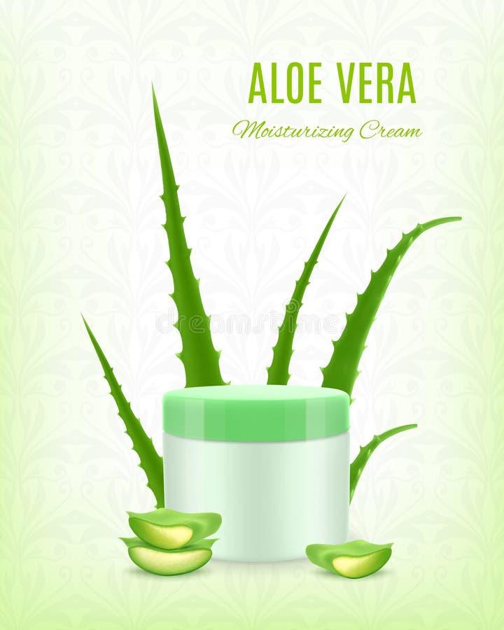 Aloe som fuktar kräm vektor illustrationer