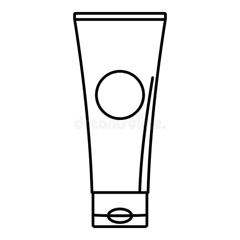 Aloe tube icon, outline style. Aloe tube icon. Outline illustration of aloe tube icon for web design isolated on white background royalty free stock photo