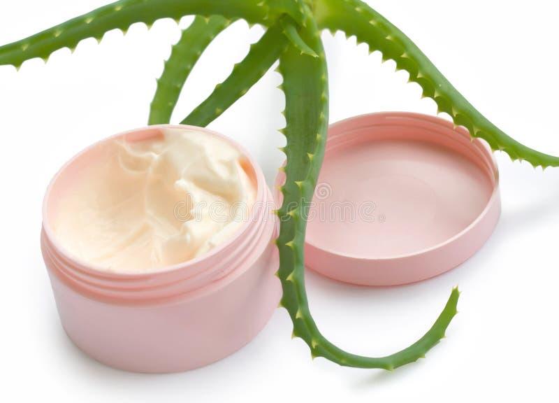 Download Aloe vera and cream stock photo. Image of ingredients - 24210434