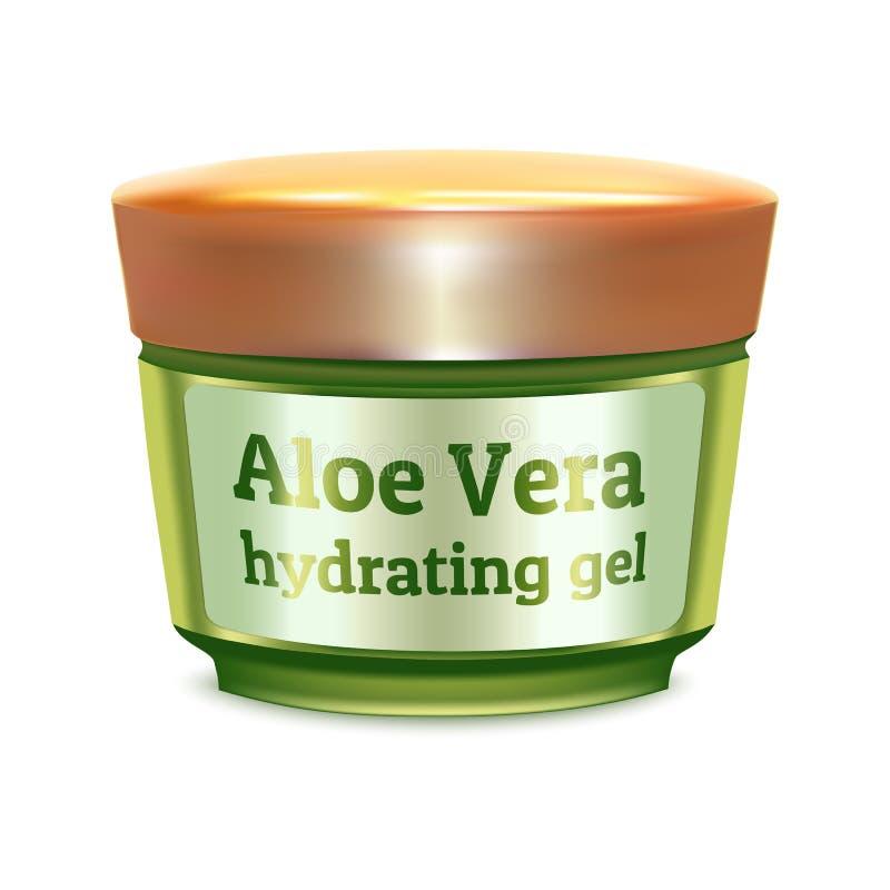 Aloe vera gel icon, realistic style. Aloe vera gel icon. Realistic illustration of aloe vera gel vector icon for web design isolated on white background royalty free illustration