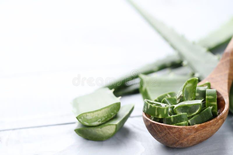 Aloe vera. Medicine. Aloe vera on the table royalty free stock image