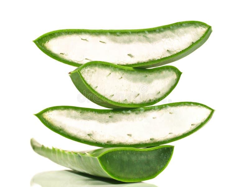 Aloes Vera - Zdrowy odżywianie fotografia stock