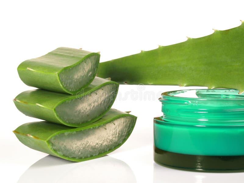 Aloesu Vera Creme - Zdrowy odżywianie zdjęcia stock