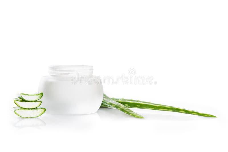 Aloesu Vera moisturizer zdjęcia royalty free