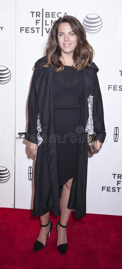 Aloft. New York, NY, USA - April 23, 2015: Director Claudia Llosa attends 2015 New York Tribeca Film Festival Premiere Narrative Aloft at BMCC Tribeca PAC royalty free stock photo