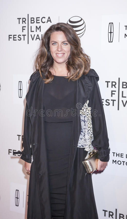 Aloft. New York, NY, USA - April 23, 2015: Director Claudia Llosa attends 2015 New York Tribeca Film Festival Premiere Narrative Aloft at BMCC Tribeca PAC royalty free stock photography