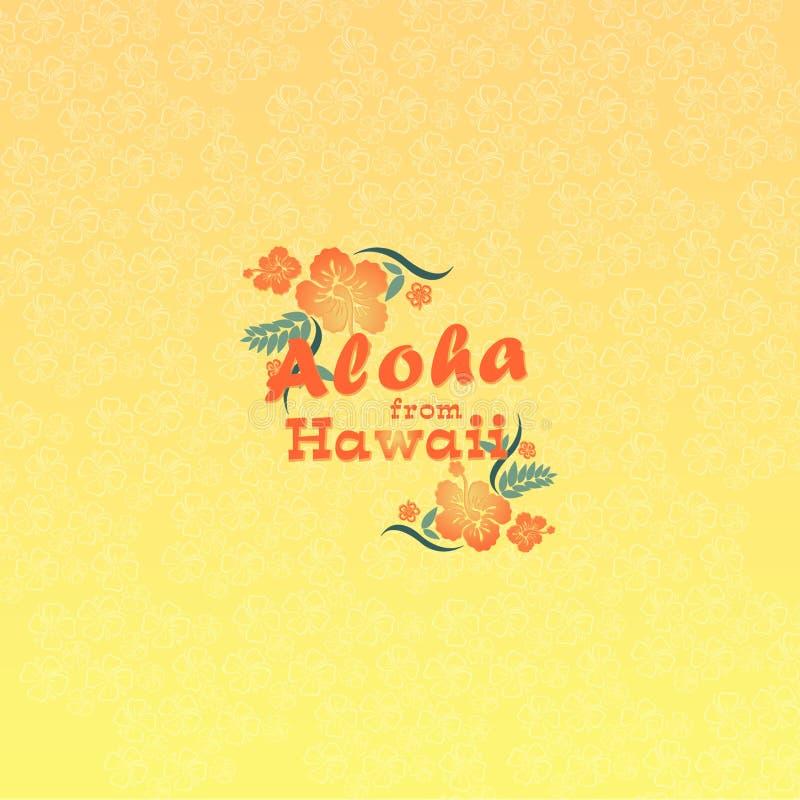Aloha από τη Χαβάη διανυσματική απεικόνιση