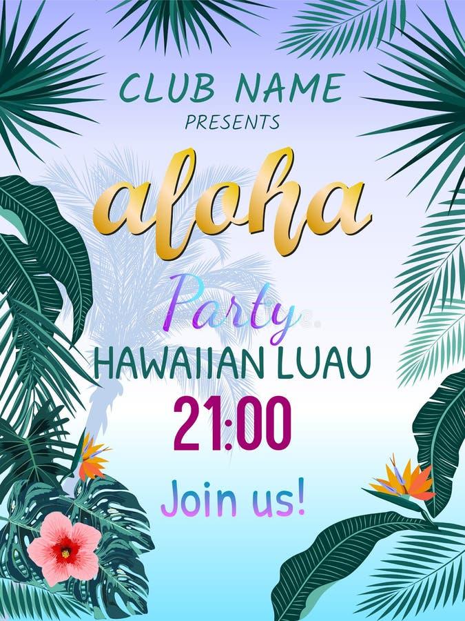 Aloha Χαβάη απεικόνιση αποθεμάτων