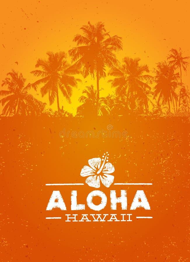 Aloha пляжа лета Гаваи элемент дизайна вектора творческого тропический иллюстрация вектора