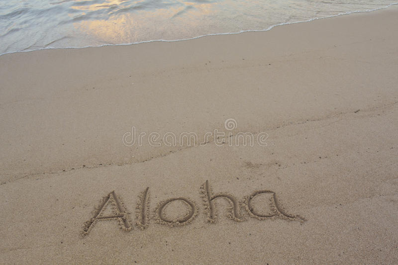 Download Aloha stock illustration. Illustration of written, tropical - 19952199